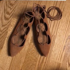 Gap Women's Lace-up Pointed-Toe Flats